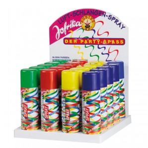 Luftschlangenspray Display 125 ml,