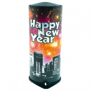 Tischbombe Happy New Year H: 21 cm,