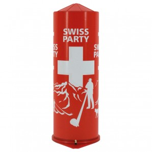 Tischbombe Swiss Party H: 21 cm,