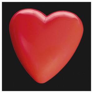 Herz blinkend, 3.5 cm Plastik,