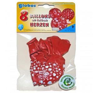 Ballon Herzen, 8 Stück