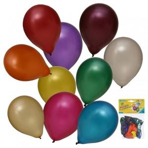 Ballon metallic, 10 Stück ø 29 cm,