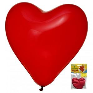 Herzballon rot, 4 Stück 90 cm Umfang,