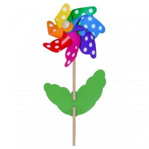 Windrad Blume mit Punkten ø 21 cm,