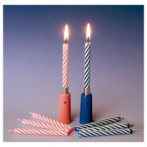 Kerze Musik Happy Birthday mit 3 Ersatzkerzen