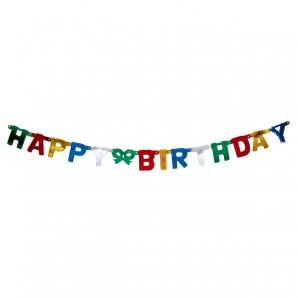 Girlande Happy Birthday Buchstabengirlande bunt