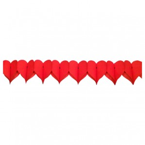 Girlande rote Herzen 360x15 cm,