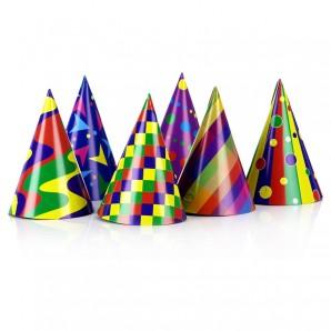 Party-Hüte gemischte Farben 15 cm,
