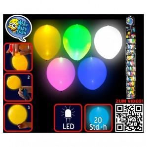 Ballon LED, Farben ass. 5 Stück im Beutel,