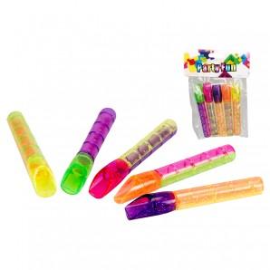 Flöte Mini Glitterfarben 5 Stk. im Beutel