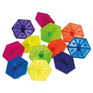 Kreisel Mini Hexagon 12 Stk. im Beutel