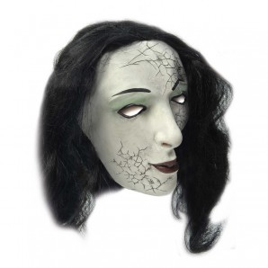 Maske Frau mit Kunsthaar