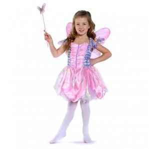 Kostüm Fairy Set mit Flügel und Zauberstab