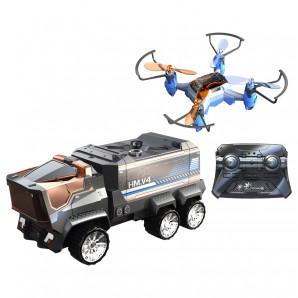 Drohne Mission mit Truck Drohne 10 cm,