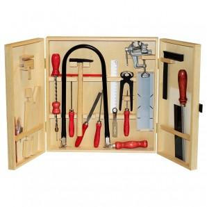 Laubsäge-und Werkzeugschrank Holz,