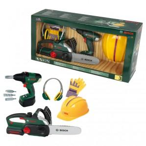 Bauarbeiter Set Bosch Werkzeuge und Zubehör