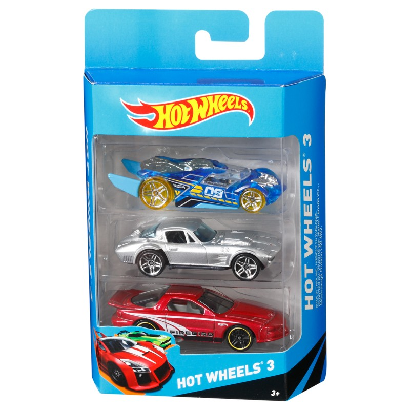 Geschenkset 3-er Pack, ass. Hot Wheels