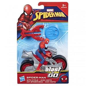 Spider-Man Blast N Go Racers Fahrzeug mit Figur