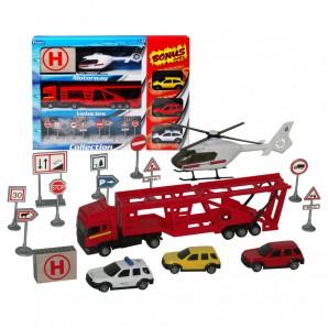 Lastwagen mit Helikopter