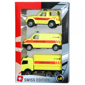 Swiss-Ambulanzset 3-teilig 1:43,