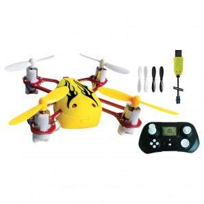 Quadrocopter Minjo gelb 42x42x21 mm,