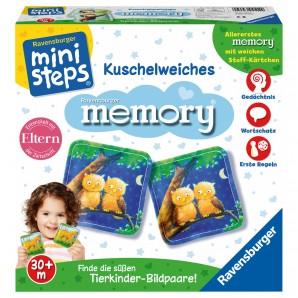 Kuschelweiches Memory, d 24 Stoffkarten 7x7 cm