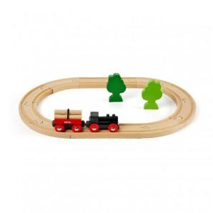 Bahn Set oval 18 Teile,