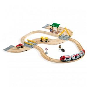 Bahn Reisezug-Set Strassen und Schienen,