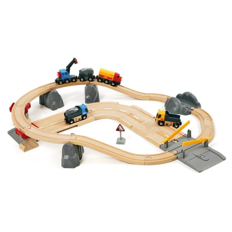 Bahn Set Strassen u. Schiene 32 Teile,