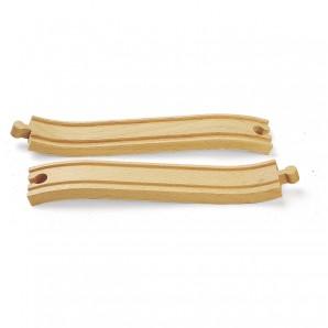 Rampengleise, 2 Stück Holz,