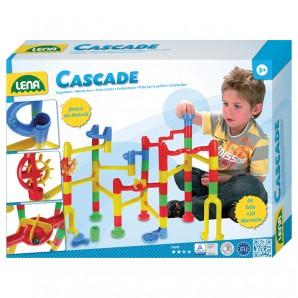 Kugelbahn Cascade Speed 48 Teile und 20 Glasmurmeln