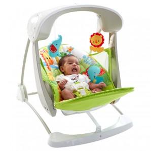 Babyschaukel 2-in-1 kompakt mit Musik,