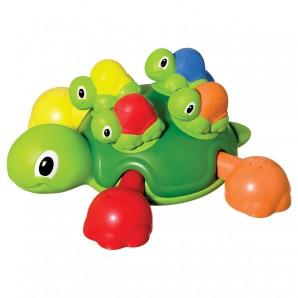 Schildkrötenfamilie Mutter mit 4 Babys