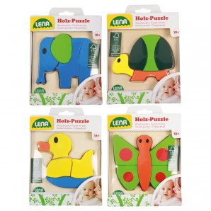 Puzzle Tiere 4-fach ass. Holz,