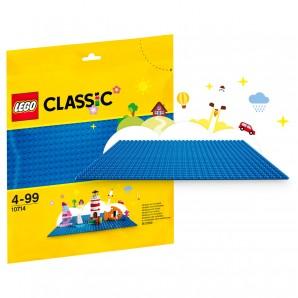 Bauplatte blau Lego Classic