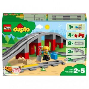 Eisenbahnbrücke und Schienen Lego Duplo