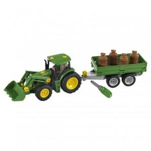 Traktor John Deere m. Ladewagen,