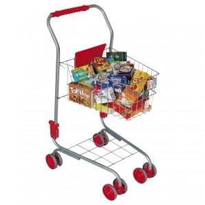 Einkaufswagen gefüllt mit 40 Kaufladenartikeln