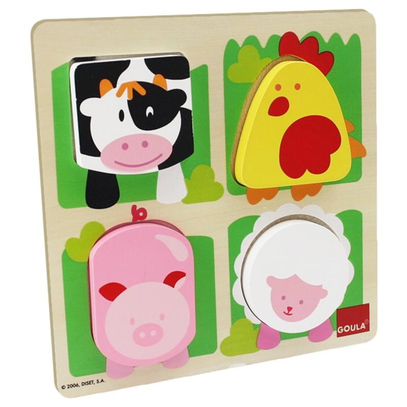 Fühlpuzzle Bauernhoftiere 4-teilig,