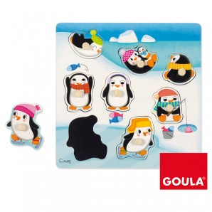 Puzzle Silhouette Pinguin Holz,