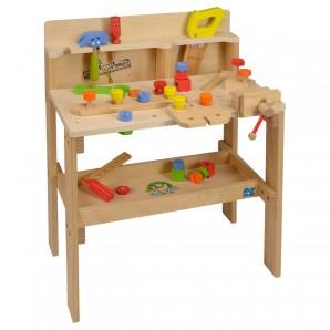 Werkzeugbank Holz gross 60x38x76 cm,