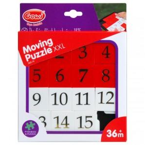 Zahlenschiebe-Puzzle XXL mit Zahlen 1-15,