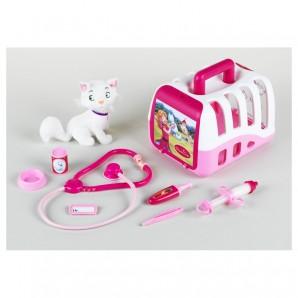Tierarztkoffer mit Katze Princess Coralie,