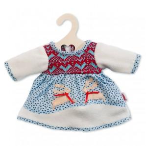 Winterkleid Puppe 28-33 cm mit Rentierapplikation