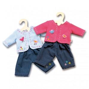 Jacke mit Jeans, Gr.28-35 cm für Puppen,