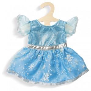 Kleid Eis-Prinzessin, klein hellblau-glitzer