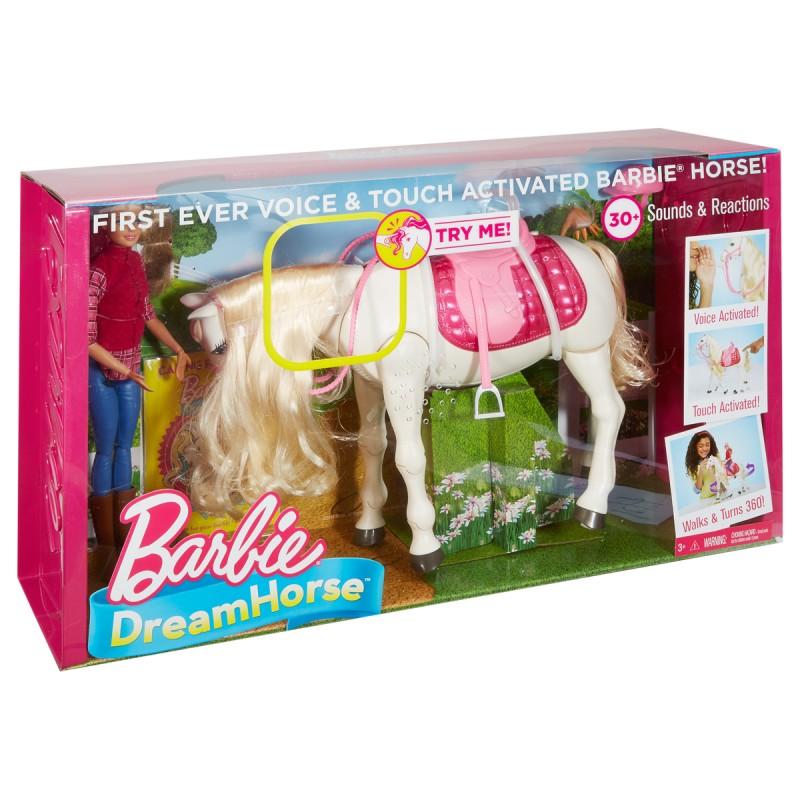 Barbie Traumpferd und Puppe mit Berührungssensoren