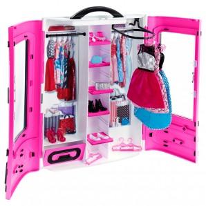 Barbie Kleiderschrank inkl. 2 Kleider,