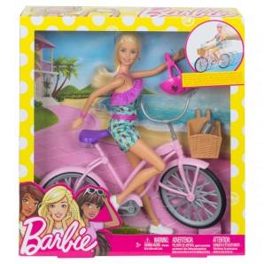 Barbie mit Fahrrad