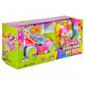 Barbie Pixel-Mobil Set Videospiel-Heldin,